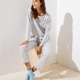 Embroidered Striped Pajama Set | LOFT | LOFT
