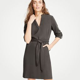 Roll Tab Sleeve Belted Shirtdress | Ann Taylor (US)