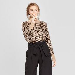 Women's Leopard Print Pullover Sweater - A New Day™ Camel | Target