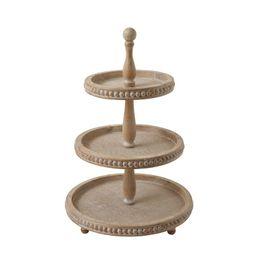 Braymer Round 3-Tier Wood Coffee Table Tray | Wayfair North America