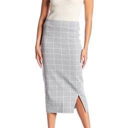 Plaid Ponte Skirt | Nordstrom Rack