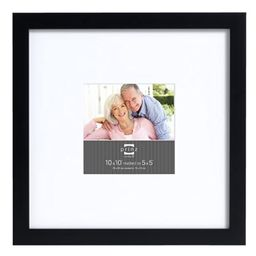 Prinz 10 by 10-Inch Matted to 5 by 5-Inch Gallery Expressions Frame, Black Finish | Amazon (US)