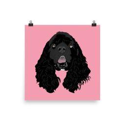 Matte Poster - SOLID - Custom Four Legged Friend | Etsy (US)