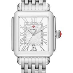 MICHELE Deco Madison Diamond Dial Watch Case, 33mm x 35mm | Nordstrom