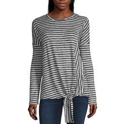 ana Long Sleeve Round Neck Blouse JCPenney   JCPenney