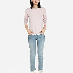 Ribbed Shirttail Hem Sweater | Express