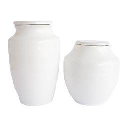 White Terracotta Jar | McGee & Co.