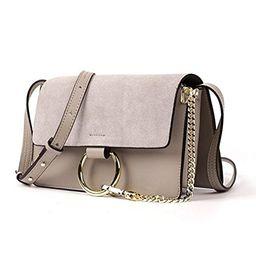 Actlure Women Genuine Leather Crossbody Shoulder Purse Chain Link FY Bag | Amazon (US)