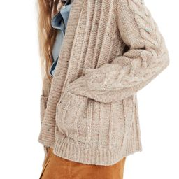 Bubble Sleeve Cable Knit Cardigan Sweater | Nordstrom