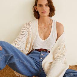 Open knit cardigan | MANGO (US)