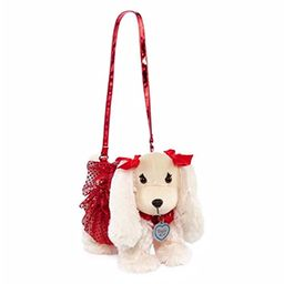 Poochie & Co Girl's Plush Puppy Dog Purse - Red Dress with Sparkly Glitter Tutu - Lizzy the Beagle -   Amazon (US)