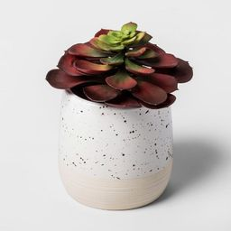Faux Succulent in Speckled White Pot - Threshold™   Target
