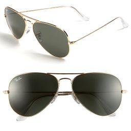 Ray-Ban Standard Original 58mm Aviator Sunglasses   Nordstrom