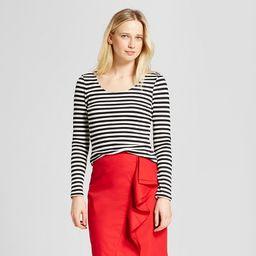 Women's Long Sleeve V-Back T-Shirt - Who What Wear™   Target