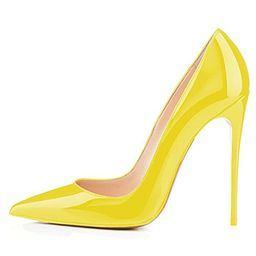 Kmeioo High Heels, Women's Pointed Toe High Heel Slip On Stiletto Pumps Evening Party Basic Shoes Pl | Amazon (US)