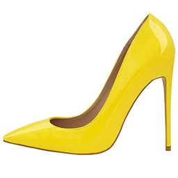 Lovirs Womens Pointed Toe High Heel Slip On Stiletto Pumps Wedding Party Basic Shoes | Amazon (US)