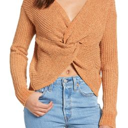 Woven Heart Knotted Chenille Sweater   Nordstrom