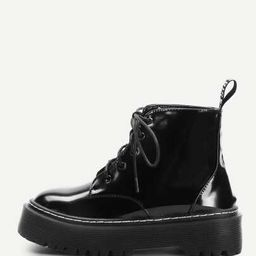 Lace-Up Martin Boots | SHEIN