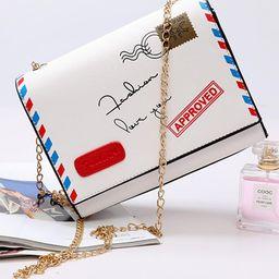 Contrast Binding Envelope Pattern Flap Bag | SHEIN