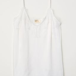 Satin and Lace Camisole Top   H&M (US)