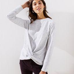 Speckled Twist Sweatshirt | LOFT | LOFT