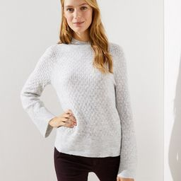 Stitchy Flare Sleeve Sweater | LOFT | LOFT