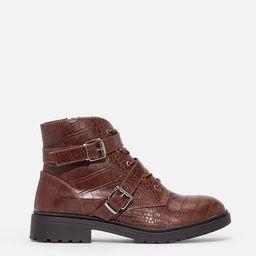 Crocia Lace-Up Boot   JustFab