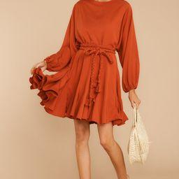 Everyday Here Orange Dress | Red Dress
