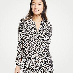 Leopard Print Camp Shirt | Ann Taylor (US)