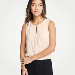 Pearlized Pleated Shell   Ann Taylor (US)