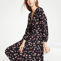 Romantic Flower Wrap Dress   Ann Taylor (US)