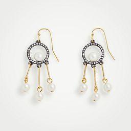 Circle Pearlized Tassel Drop Earrings   Ann Taylor (US)