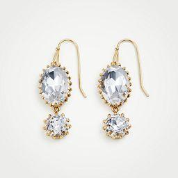 Double Crystal Drop Earrings | Ann Taylor (US)
