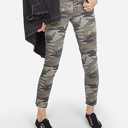 Mid Rise Camo Print Stretch Ankle Leggings | Express