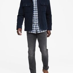 Grant Slim-Fit Luxe Flannel Plaid Shirt | Banana Republic US