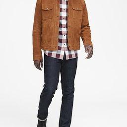 Grant Slim-Fit Luxe Flannel Buffalo Check Shirt | Banana Republic US