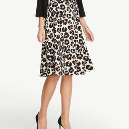 Petite Leopard Print Midi Skirt | Ann Taylor Factory