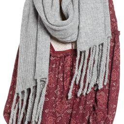 Free People Jaden Rib Knit Blanket Scarf | Nordstrom