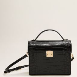 Croc-effect chest bag - Women | MANGO (US)