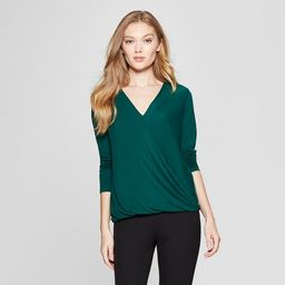 Women's Long Sleeve Drape Front Top - A New Day™   Target