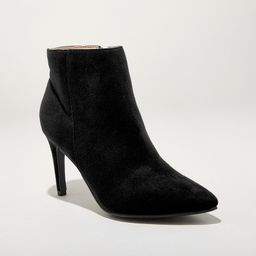 Women's Norelle Microsuede Stiletto Pointed Bootie - A New Day™ | Target