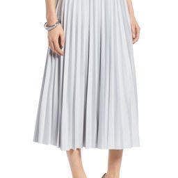 Metallic Pleat Midi Skirt | Nordstrom