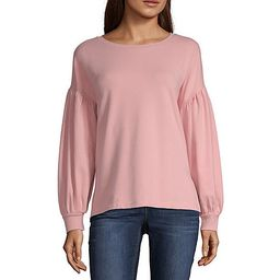ana Long Sleeve Round Neck Pullover Sweater JCPenney | JCPenney