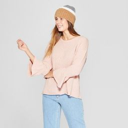 Women's Bell Long Sleeve Chenille Crew Pullover - Knox Rose™ | Target