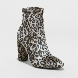 Women's Norma Cylinder Heeled Bootie - A New Day™ | Target