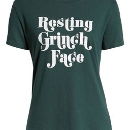 Resting Grinch Face Slouch Tee | Nordstrom