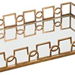 Uttermost 19912 Nicoline Mirrored Tray, Brass   Amazon (US)