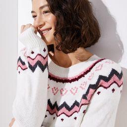 Swingy Fairisle Sweater | LOFT | LOFT