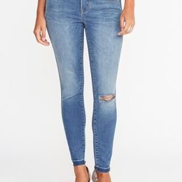 Mid-Rise Built-In Sculpt Rockstar Ankle Jeans for Women   Old Navy US