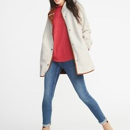 Long Sherpa Faux-Suede Lined Coat for Women   Old Navy US